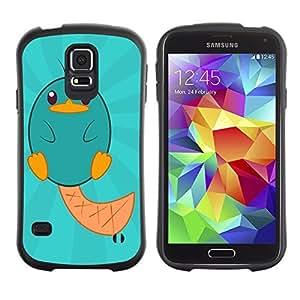 Hybrid Anti-Shock Bumper Case for Samsung Galaxy S5 / Cute Creature