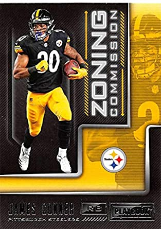 e0f70d8e46d 2018 Playbook Zoning Commission Football  3 James Conner Pittsburgh  Steelers Official NFL Card Produced by
