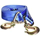 Erickson 09301 2-Inch x 20-Inch Tow Strap with Forged Safety Snap Hook, Blue