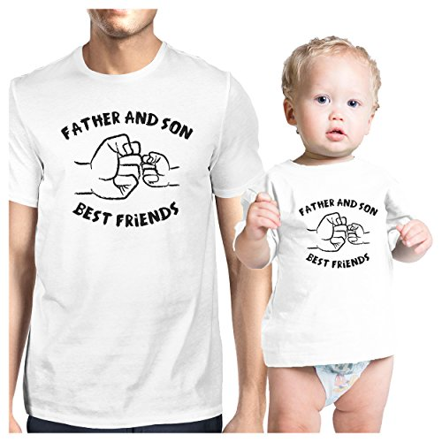 365 Printing Father and Son Best Friends White Matching Shirts