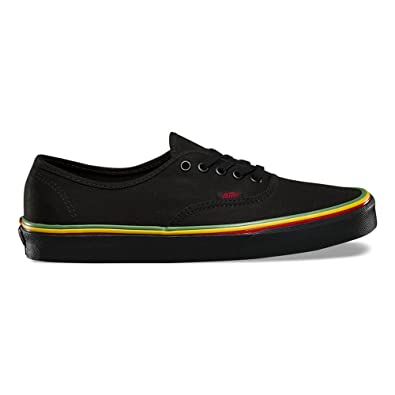 Amazon.com | Vans Authentic (Rasta) Fashion Sneakers Black/Black ...
