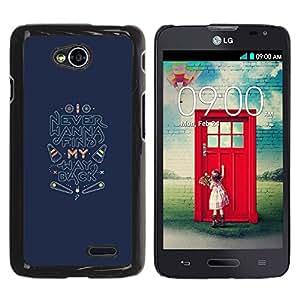 iKiki Tech / Estuche rígido - Back Find Quote Inspirational - LG Optimus L70 / LS620 / D325 / MS323