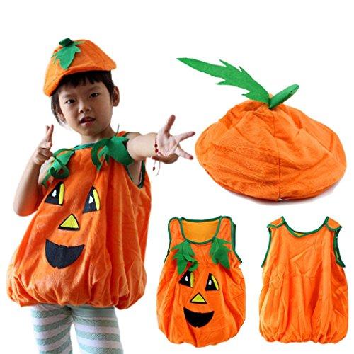 WensLTD Hotsale! Halloween Children Clothes Pumpkin Hat Pumpkin (Top Scary Halloween Costumes)