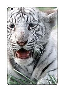 Ipad Mini/mini 2 Case Slim [ultra Fit] White Bengal Tiger Protective Case Cover