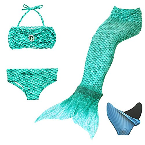 Mother & Kids Bright 4pcs Girls Mermaid Tail Swimwear Cosplay With Garlands Bikinis Set Kids Mermaid Tails Swimsuit Beach Swimming Costumes Clothes Elegant And Graceful