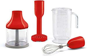 Smeg HBAC01RD Accessory Set for HBF01 50's Retro Style Hand Blender, Red