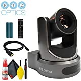 PTZOptics 20x-SDI Gen2 Live Streaming Camera (Gray) with HDMI Cable and Cleaning Kit
