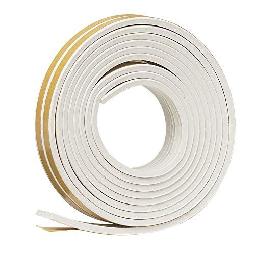 "Frost King V27WA Weatherstrip Tape,10 ft L x 9//16/"" W 5//16/""T,EPDM Rubber,White"