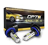 hyundai accent 2008 fog light - OPT7 881 (886, 894, 896) CREE XLamp LED DRL Fog Light Bulbs - 5000K Bright White @ 700 Lm per bulb - All Bulb Sizes and Colors - 1 year Warranty (Pack of 2)