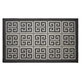 Jean Pierre All Loop Novea Greek Key 28 x 48 in. Decorative Textured Accent Rug, Grey/Soft White