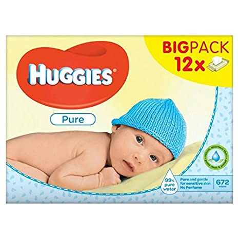 Huggies Pure Wipes Big Pack 12 x 64 por paquete: Amazon.es: Alimentación y bebidas