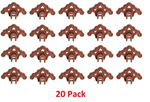 (20) PLASTIC BRONZE Roof Ice Guard Snow Guard Snow Stops for Standing Seam Metal (Roofing Snow Guards)
