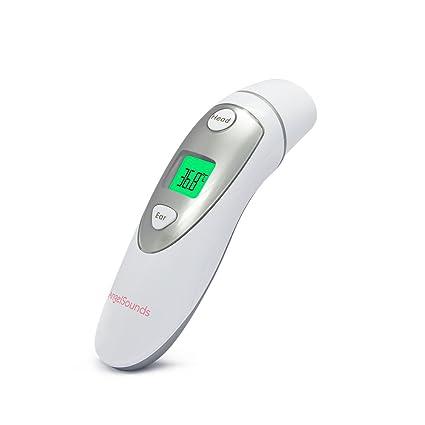 Jumper Termómetro Médico de Frente y del Oído, Termómetro Digital Infrarrojo con la Medida Rápida, CE y Aprobado por la FDA para el Bebé, el Niño y ...