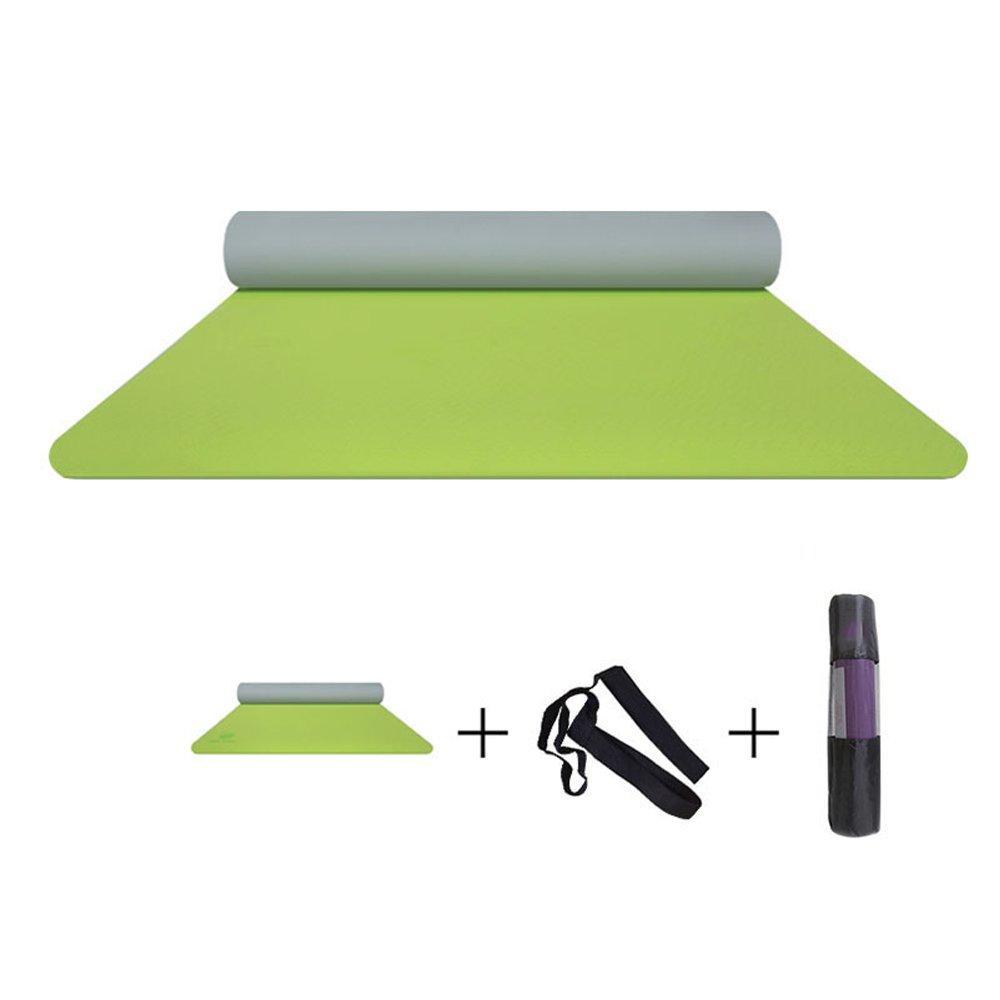 KLEDDP L'ispessimento per Principianti Ha Allargato Il Tappetino da Yoga per Uomo E Donna con Tappetino Antiscivolo Lungo Stuoia di Yoga (colore   verde)