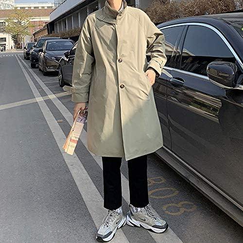 [エレガンザー]メンズ ジャケット コート カジュアル ビジネス 兼用 ロングコート 春 ステンカラー トレンチコート スプリングコート 無地 ロングジャケット 薄手 ゆったり おしゃれ ストリート 大きいサイズ 春夏秋