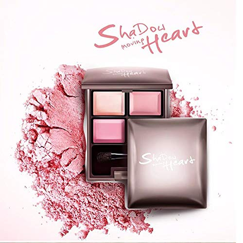WG Glamour Girl Makeup Kit - 4 Eyeshadow Matte Glitter Pigment Eye Texture Shadow Beauty Makeup,Pink