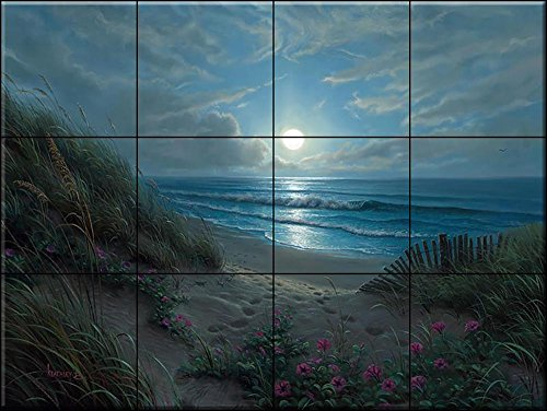Ceramic Tile Mural - Evening Glories - MK- by Mark Keathly - Kitchen backsplash/Bathroom ()