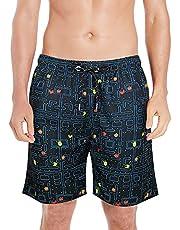 QRANSS Surf Men's Quick Dry Swim Trunks Bathing Suit Beach Shorts