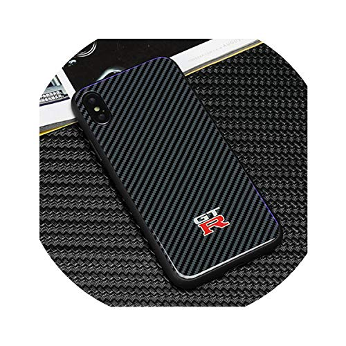Fashion Racing Sports AMG GTR RS Motorsport Carbon Fiber Tempered Glass Back Cover Phone Case for iPhone X XS Max XR 7 8 6 Plus,for iPhone XR,GTR