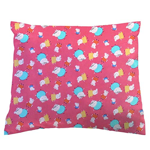SheetWorld Crib Toddler Pillow Case, 100% Cotton Woven, Pepp