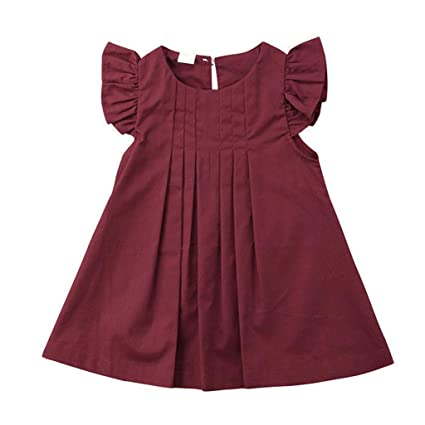 c5e931fdd1960 Amazon.com : ❤Ywoow❤ for 0-3 Years Old Girls Dresses, Girl Solid ...