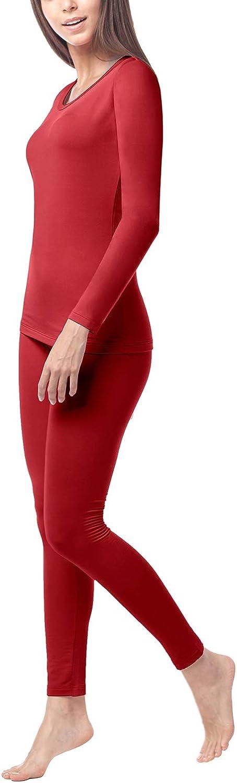 L41 LAPASA Women/'s Thermal Underwear Set Warm Thermal Underwear Long Sleeve Top /& Bottom Long Johns Pants L17 L44