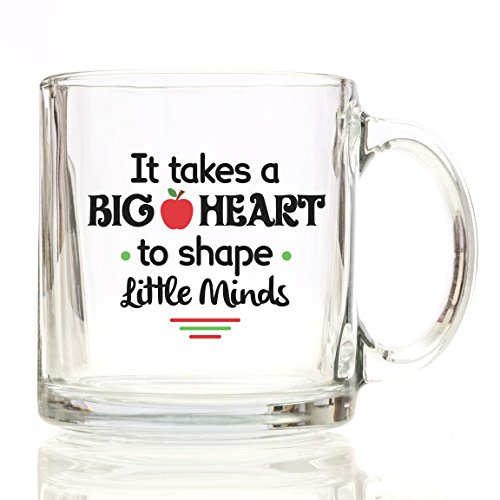 GiftaCup It Takes a Big Heart to Teach Little Minds Coffee Mug, 12 oz