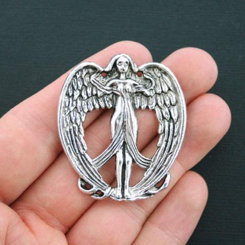 - Unique Designer Jewelry Goddess Connector Charms Antique Silver Tone Fairy or Angel Charm - SC4500 for Your Pendants, Earrings, Zipper pulls, Key Chains