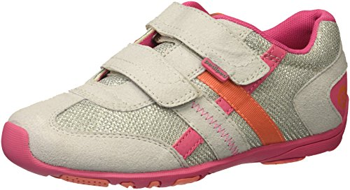 : pediped Girls' Flex Gehrig Sneaker, Grey, 24 E EU Toddler (7.5-8 US)