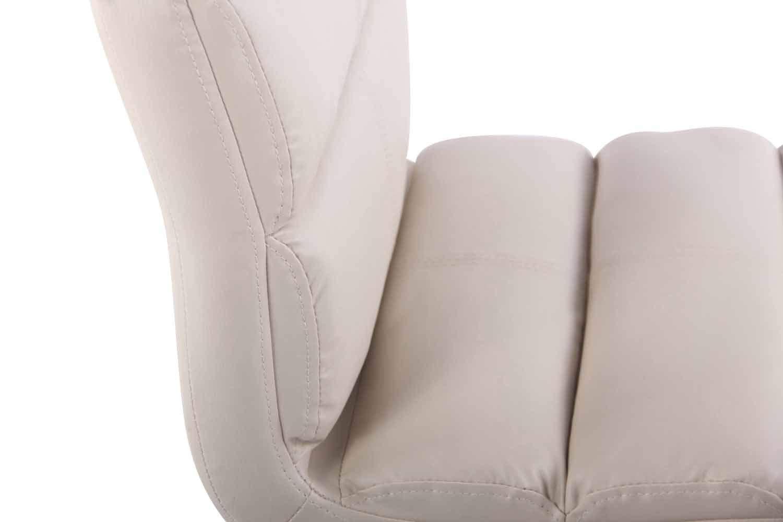 Blanco CLP Set de 2X Taburetes Umbria en Cuero Sint/ético I 2X Taburetes Regulables en Altura I Color