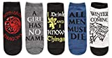 Hyp Game of Thrones Quotes Juniors/Womens 5 Pack Ankle Socks Size 4-10