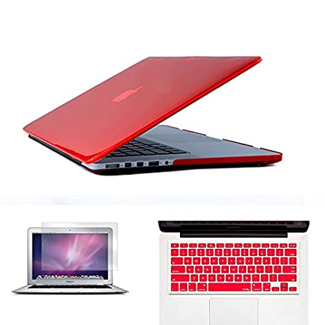 3 en 1 ordenador portátil funda para MacBook Air Pro Retina 11 12 13 15 Crystal