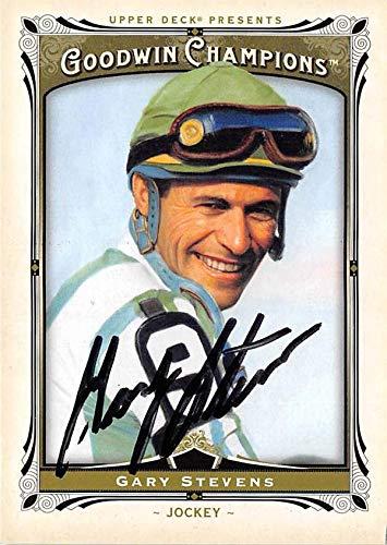 Gary Stevens autographed card (Horse Racing, Jockey) 2013 Upper Deck Goodwin Champions #120