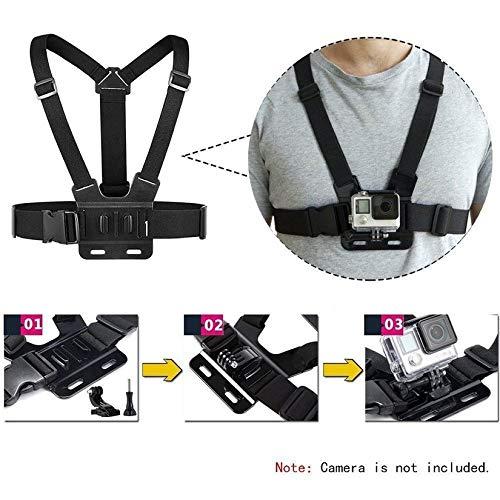 Nero ZengBuks Cintura di Montaggio Torace per Gopro Hero 7//6//5 4K Action Camera Imbracatura di Montaggio Torace per GoPro SJCAM SJ4000 Sport Cam Fix
