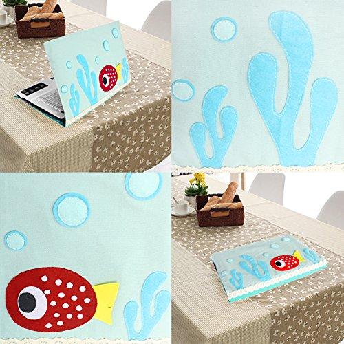[Fisch] Kreative Leinwand-Laptop-Kasten Computer-Beutel-Abdeckung für Laptop