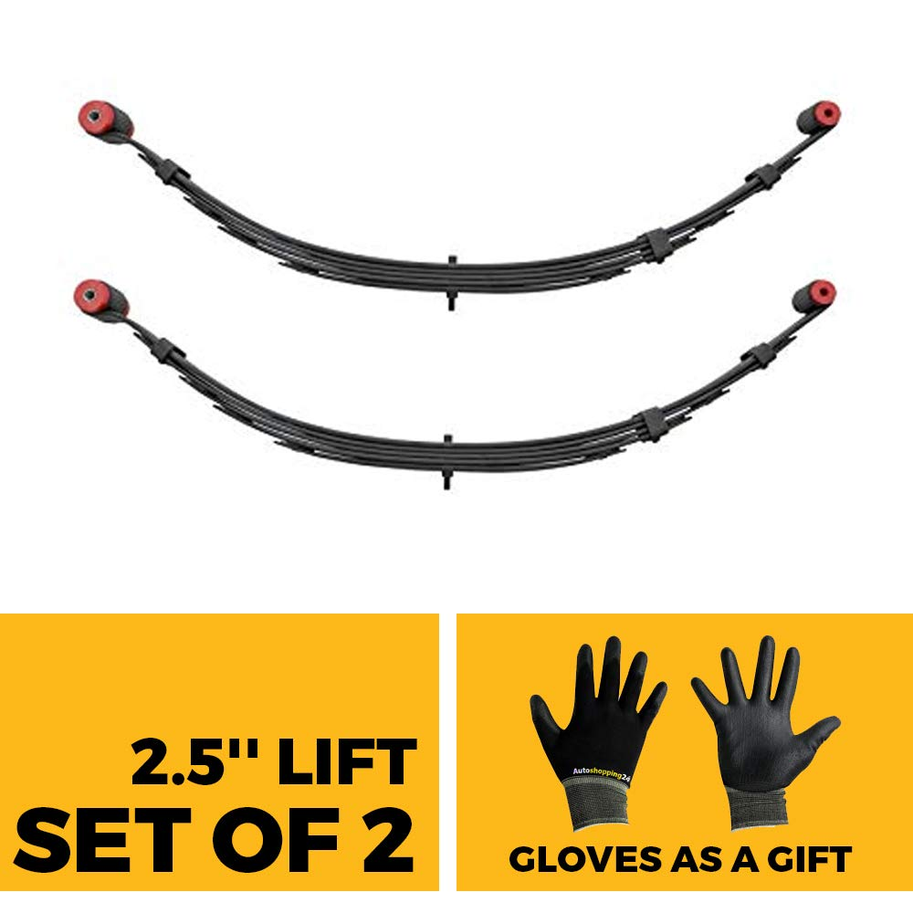 Pro Comp 51223 Pair of Rear 2.5' Lifted Leaf Spring for 1955-1975 Jeep CJ5 / CJ6 / DJ5 / Universal Willys - Bonus Our Pair of Gloves Included Pro Comp / Autoshopping24