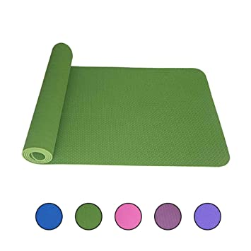 Amazon.com : Non-Slip Yoga Mat Environmental Protection 6mm ...
