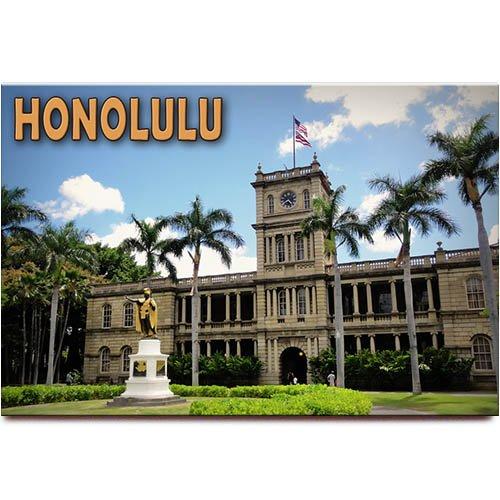- Honolulu Aliiolani Hale fridge magnet Oahu Hawaii travel souvenir