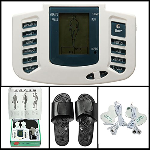 Pevor Digital Stimulator Massager Full Body Relax Pulse Acupuncture Therapy with Slipper