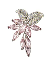 PINK CRYSTAL GRAPE BROOCH PENDANT PIN MADE WITH SWAROVSKI ELEMENTS