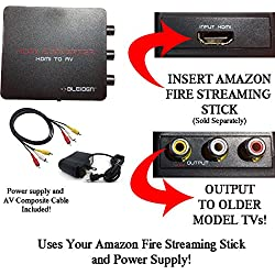 HDMI to Composite AV Converter for Amazon Fire Streaming Stick: Use Amazon Fire Streaming Stick with Older TVs that have Composite (red/white/yellow) Inputs. [NOTE: AMAZON STICK SOLD SEPARATELY]