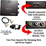 HDMI Converter for Amazon Fire Streaming Stick, Google Chromecast, ChromecastUltra & other HDMI Sticks. Use Streaming Sticks with Older TVs that have Composite (red/white/yellow) Inputs.