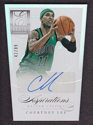 2012-13 Elite Series Basketball Aspirations Autograph #97 Courtney Lee 42/89 Auto Celtics