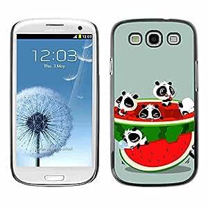Shell-Star ( Funny Cute Animals & Watermelon ) Fundas Cover Cubre Hard Case Cover para Samsung Galaxy S3 III / i9300 i717
