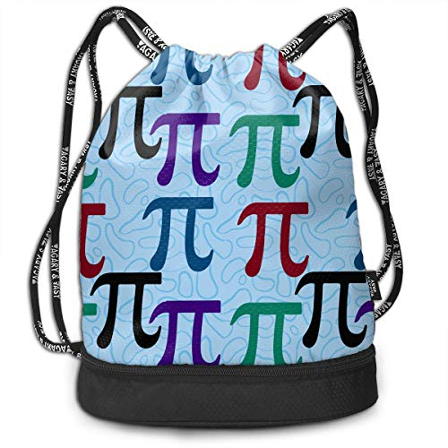 Zhangyi Pi Pi Math Drawstring Backpack Sports Gym Cinch Sack Bag for Women Men Girls Sackpack Dance Bag ()