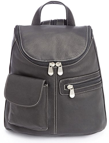 (Royce Leather Luxury Tablet Ipad Backpack Handcrafted in Colombian Leather Laptop, Black, One Size)