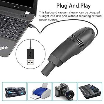 Mini PC Aspiradora PC Aspiradora PC Laptop Cepillo Kit de limpieza de polvo: Amazon.es: Oficina y papelería