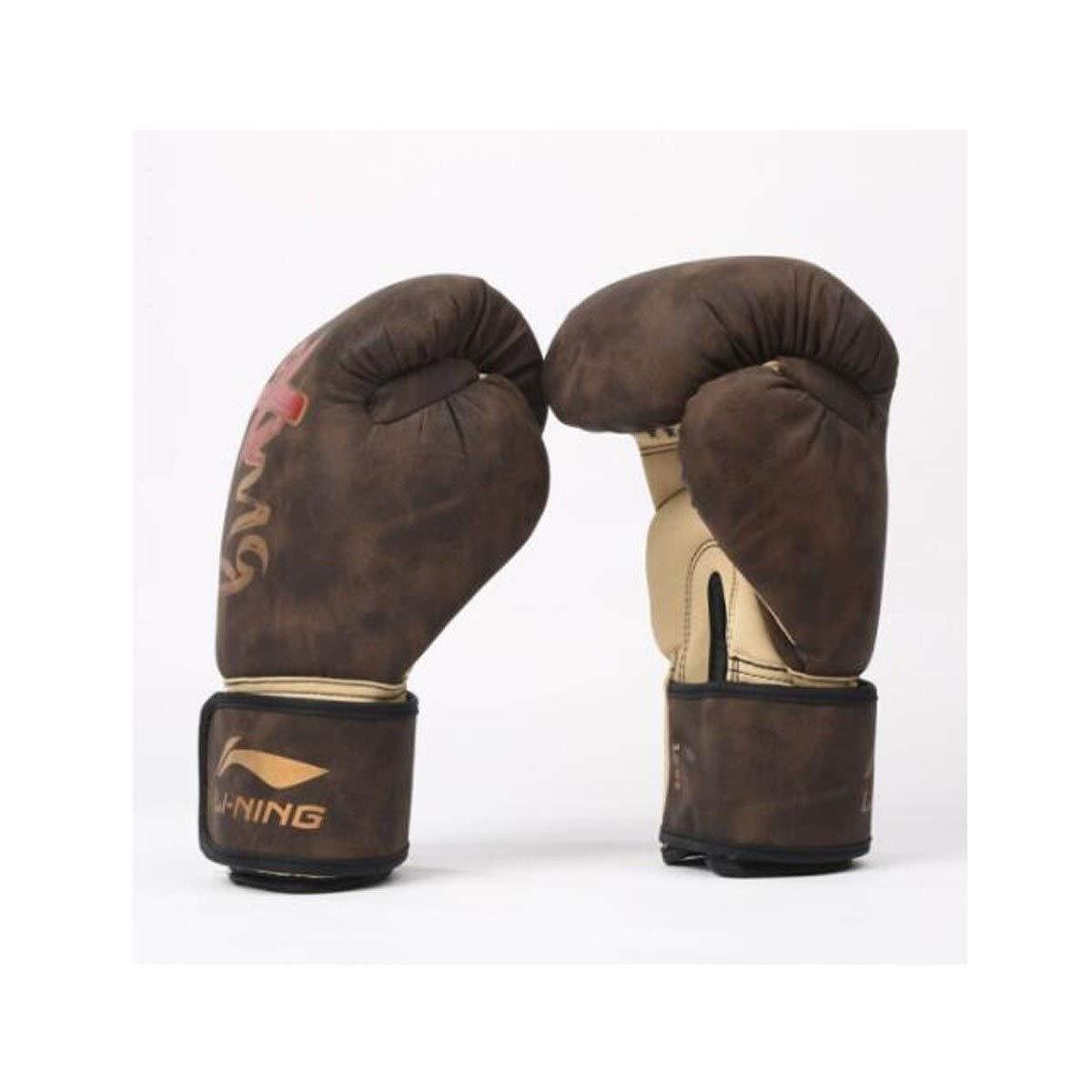 TMYQM ボクシンググローブ、アダルトサンダファイト、ライナーラテックスコットンハイフォームプロフェッショナルコンペティションボクシングセット、テコンドーサンドバッグボクシング、10アン、12オンス 柔らかく快適 褐色 10oz