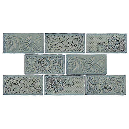 SomerTile WCVAFG Antigue Feelings Griggio Ceramic Wall Tile, 3