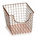 MD Group Wire Basket - Copper, 9.5'' x 8'' x 12.5'' x 7 lbs, Medium